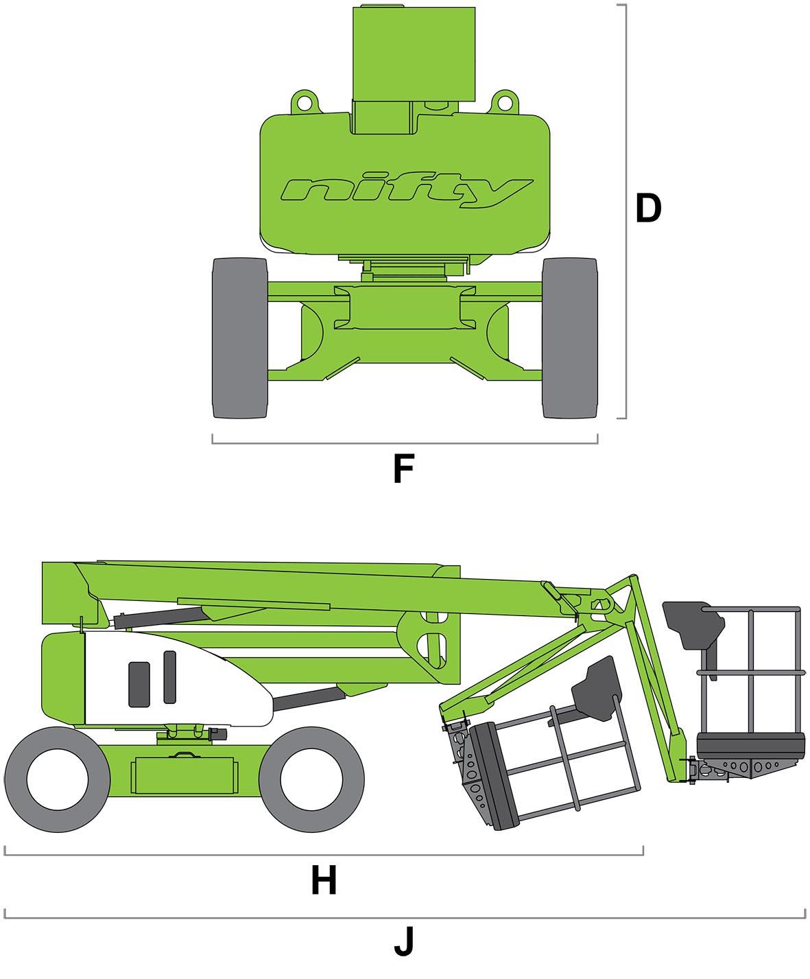 ابعاد بالابر HR17 4x4