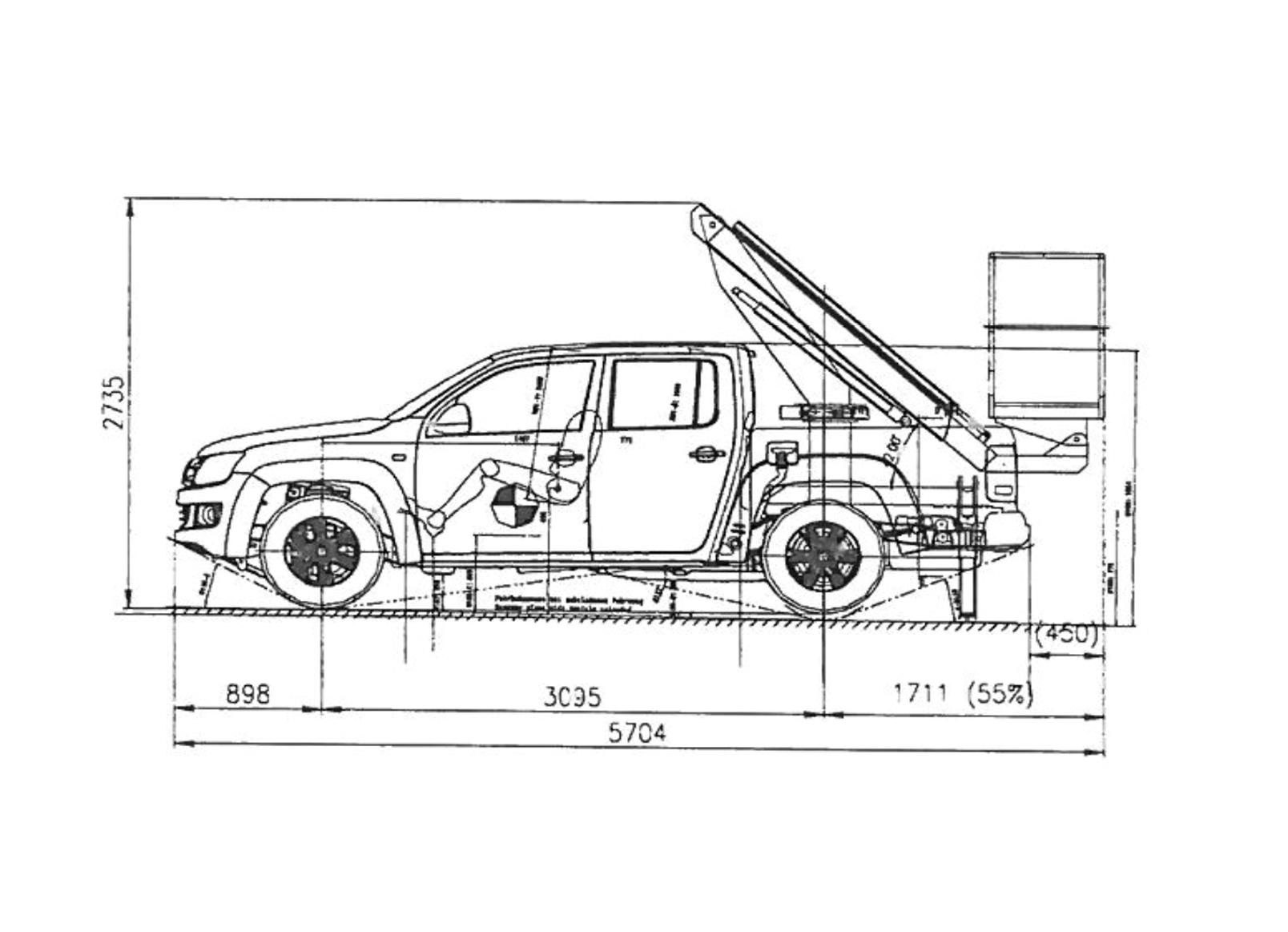 ابعاد بالابر PT90