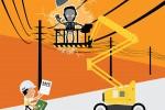 ایمنی در بالابر - فاصله از خطوط برق - پوستر 7