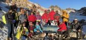صعود تیم کوهنوردی کلایر به قله سبلان