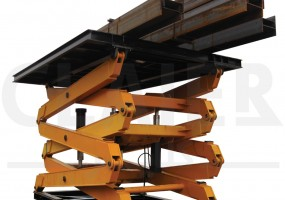 Huge scissor lift for Khoozestan Steel Co.
